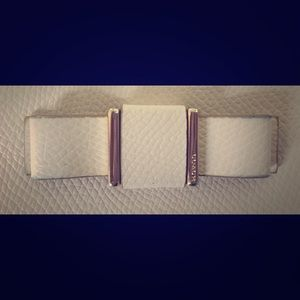 Coach Wristlet in White Leather